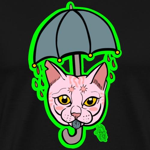 Pink Rain Cat - Maglietta Premium da uomo