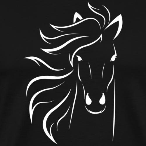 pferd silhouette - Männer Premium T-Shirt