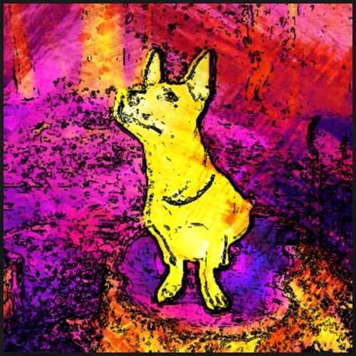 Yellow dog - Männer Premium T-Shirt
