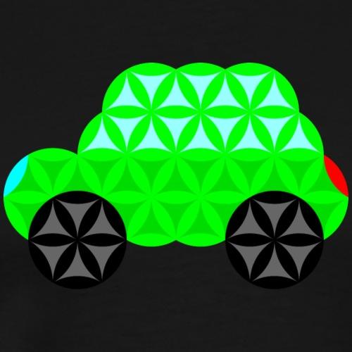 The Car Of Life - M01, Sacred Shapes, Green/R01. - Men's Premium T-Shirt