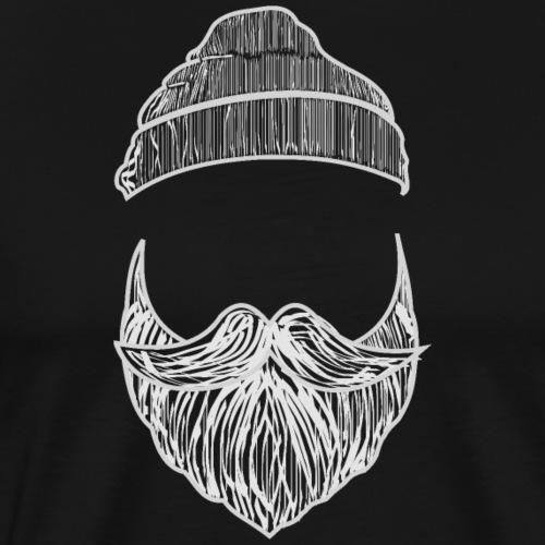Bart mit Mütze - Männer Premium T-Shirt