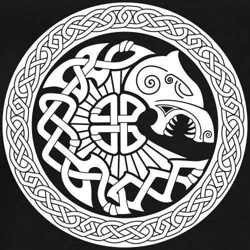 Viking fenrir loup - T-shirt Premium Homme