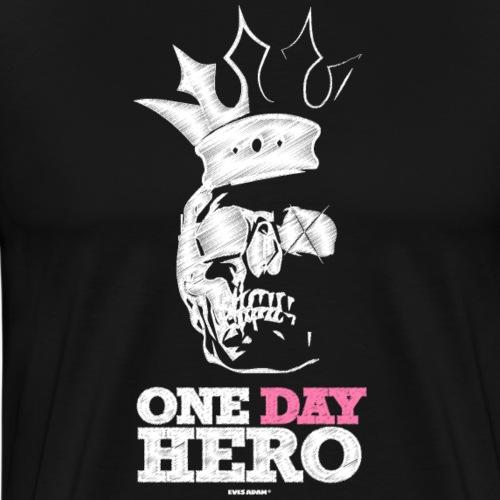 Eves Adam || One Day Hero White - Männer Premium T-Shirt