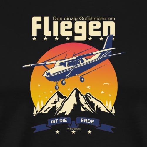 Fliegen Flieger Flugzeug Pilot Stewardess - Männer Premium T-Shirt