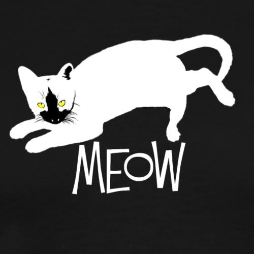 katze weissböse meow2 - Männer Premium T-Shirt