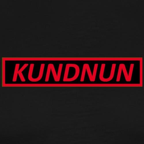 Kundnun zwart rood - Mannen Premium T-shirt