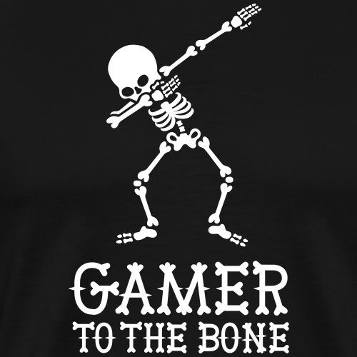 'GAMER TO THE BONE' DAB DABBING Skeleton Gaming - Mannen Premium T-shirt
