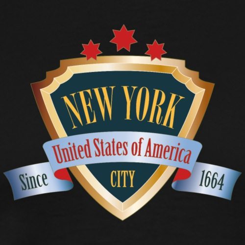 I love New York USA NYC Wappen Sterne Weltstadt - Men's Premium T-Shirt