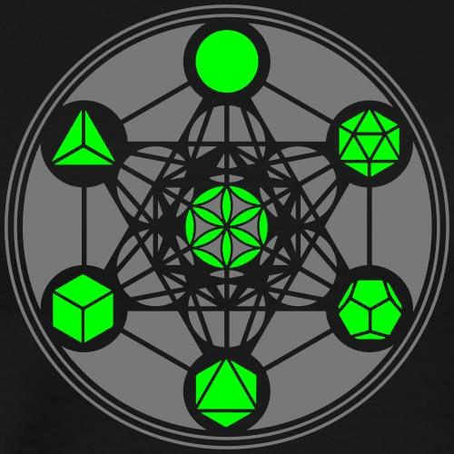 Metatrons Würfel, Platonische Körper, Cube, Blume - Männer Premium T-Shirt