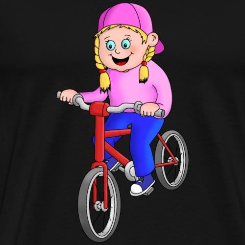 Radfahren Mädchen - Männer Premium T-Shirt