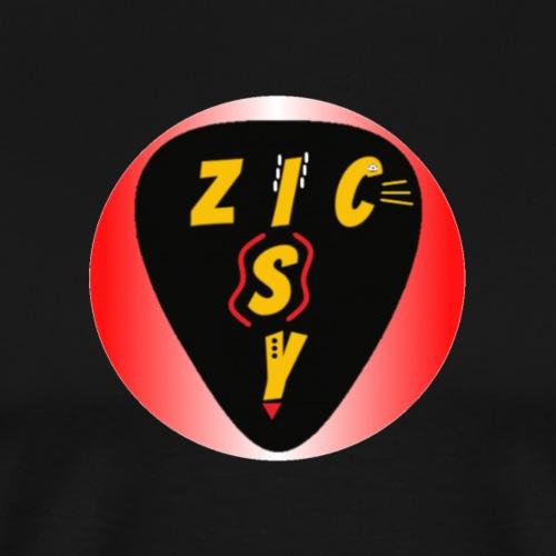 Zic izy rond dégradé rouge - T-shirt Premium Homme