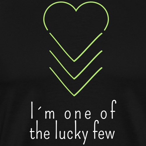 THE LUCKY FEW HEART | The colorful zebra - Men's Premium T-Shirt