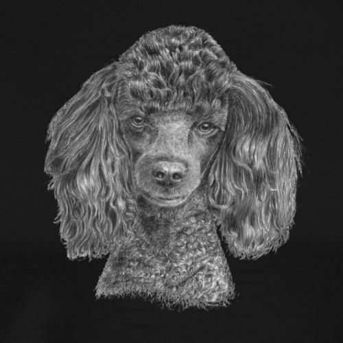 poodle-black-P - Herre premium T-shirt