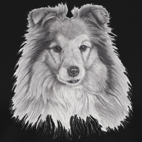 shetland sheepdog sheltie - Herre premium T-shirt