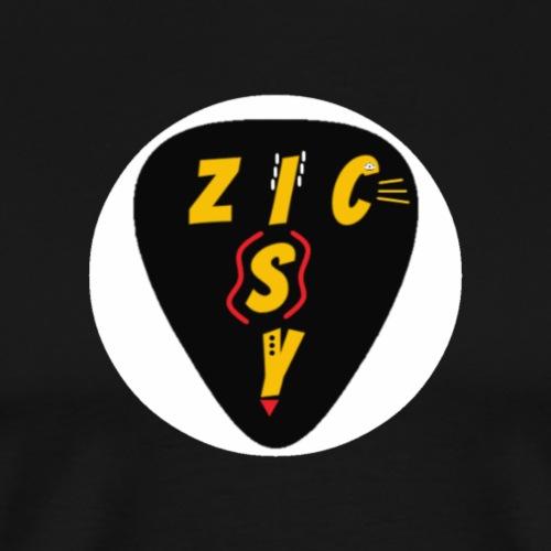Zic izy rond blanc - T-shirt Premium Homme
