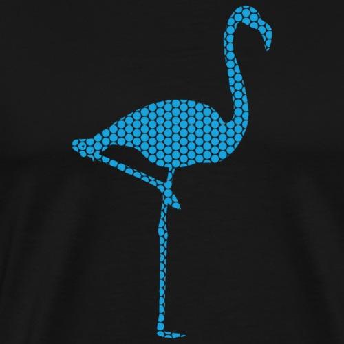 Flamingo Hellblau - Männer Premium T-Shirt