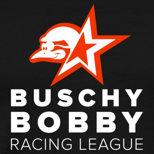 Buschy Bobby Racing League on black - Men's Premium T-Shirt