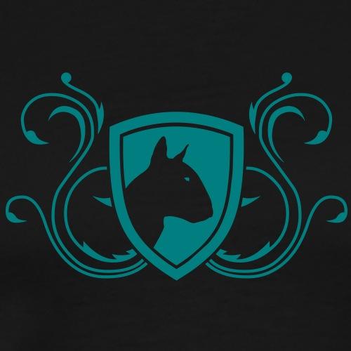 Bullterrier Wappen 1c - Männer Premium T-Shirt