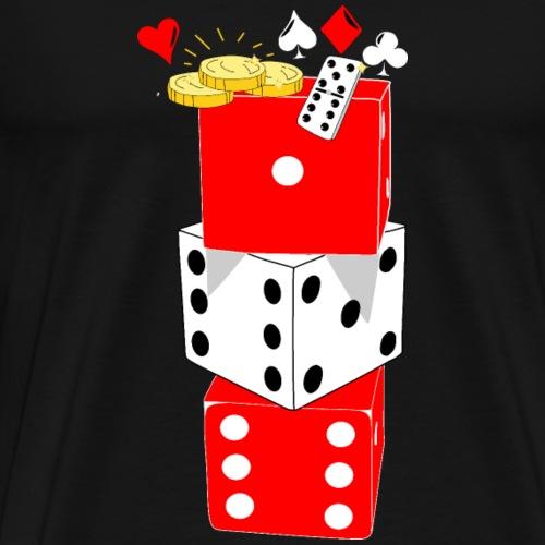 Kaart speeldag T-shirt Creatief - Mannen Premium T-shirt