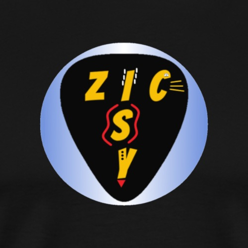 Zic izy rond dégradé bleu - T-shirt Premium Homme