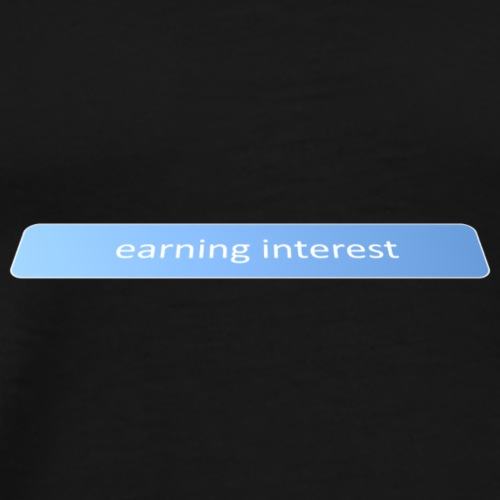 Earning interest - Men's Premium T-Shirt