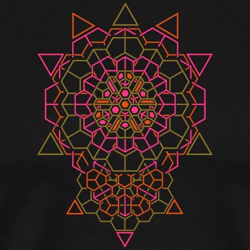 Kosminen kristalli takaisin miesten säiliö - Miesten premium t-paita