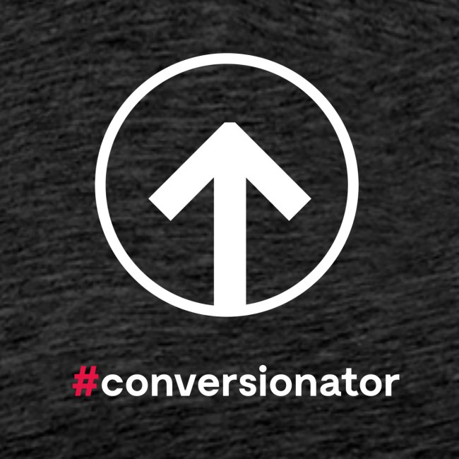 Conversionator mit Pfeil (weiß)