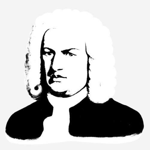 Johann Sebastian Bach abstrakt in schwarz und weiß - Männer Premium T-Shirt