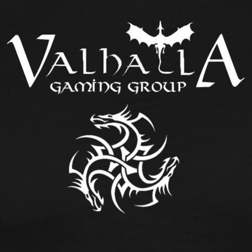 valhalla logo dragon front - Herre premium T-shirt