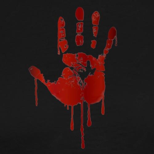bloody hand - Herre premium T-shirt