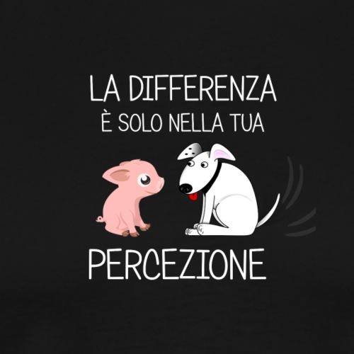 LA DIFFFERENZA Scritta bianca - Camiseta premium hombre