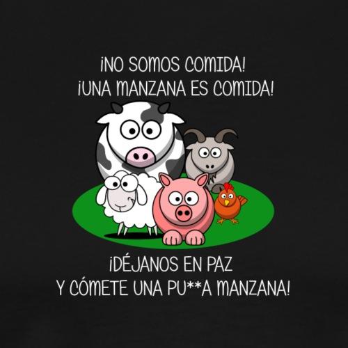 NO SOMOS COMIDA Escrita blanca - Camiseta premium hombre