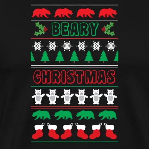 Beary Christmas.png - Men's Premium T-Shirt