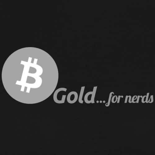 Bitcoin, gold for nerds. Gray version. - Männer Premium T-Shirt