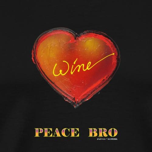 HEART - PEACE BRO - Mannen Premium T-shirt