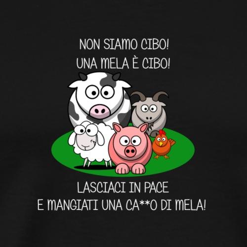 NON SIAMO CIBO Scritta bianca - Camiseta premium hombre