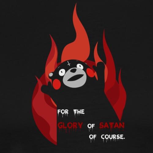 Kumamon satanic bear - Herre premium T-shirt