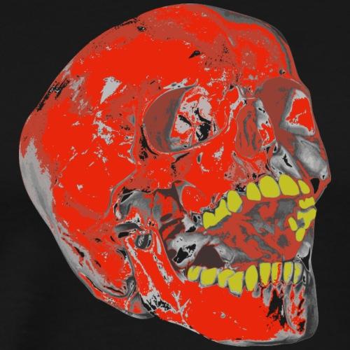 Totenkopf Gelber Zahn - Männer Premium T-Shirt