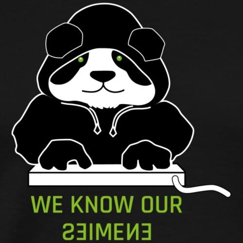 Panda Black Hoody - Männer Premium T-Shirt