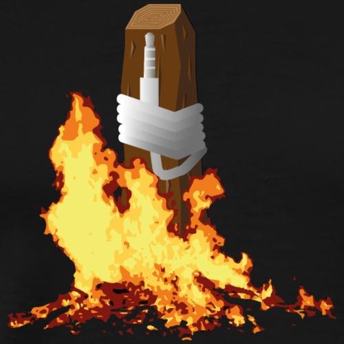 burning the headphone-jack - Mannen Premium T-shirt