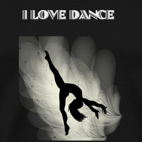 I LOVE DANCE by Nya - Maglietta Premium da uomo