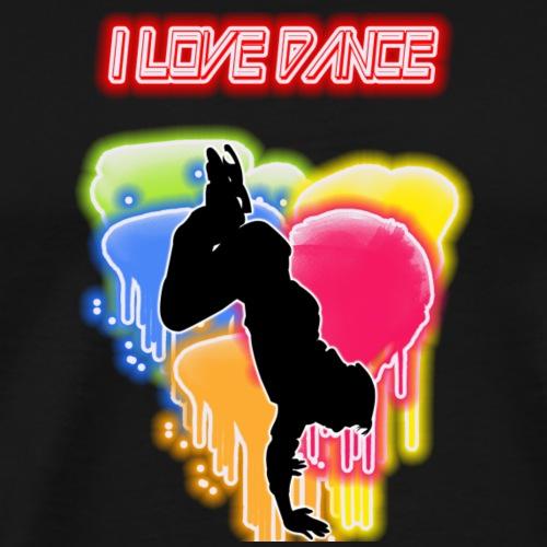 I LOVE DANCE - Maglietta Premium da uomo