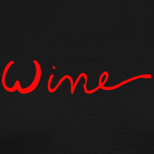 WINE art logo ROOD - Mannen Premium T-shirt