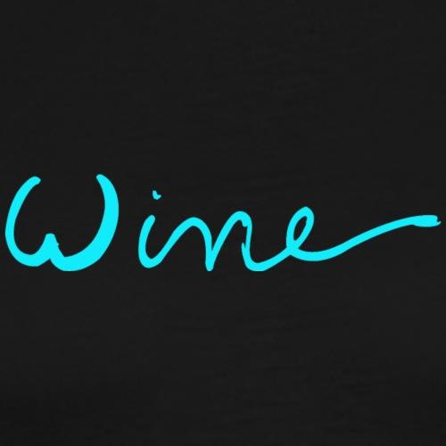 WINE art logo BLAUW - Mannen Premium T-shirt