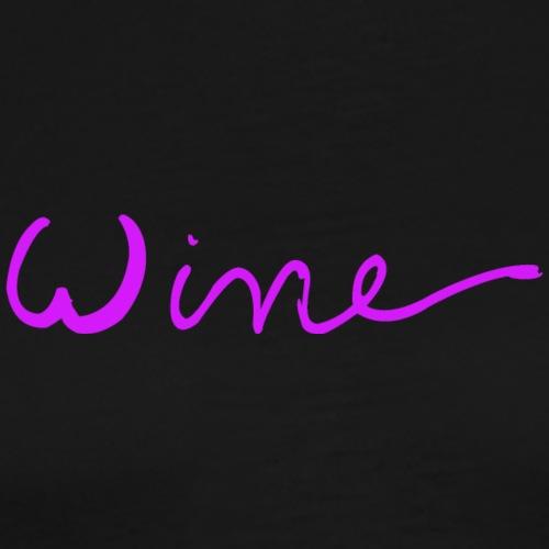 WINE art logo ROSE - Mannen Premium T-shirt