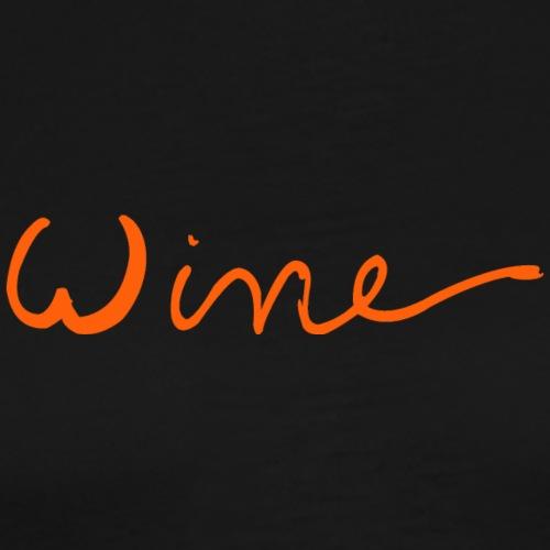 WINE art logo ORANJE - Mannen Premium T-shirt