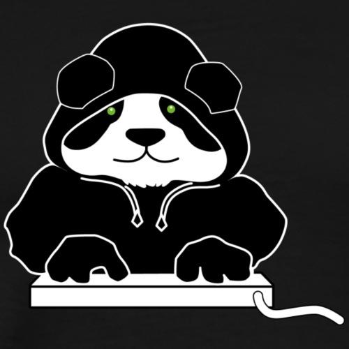 Panda Black Hoody (ohne Text) - Männer Premium T-Shirt