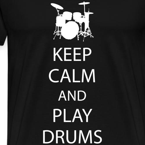 Keep Calm Drummer - Men's Premium T-Shirt