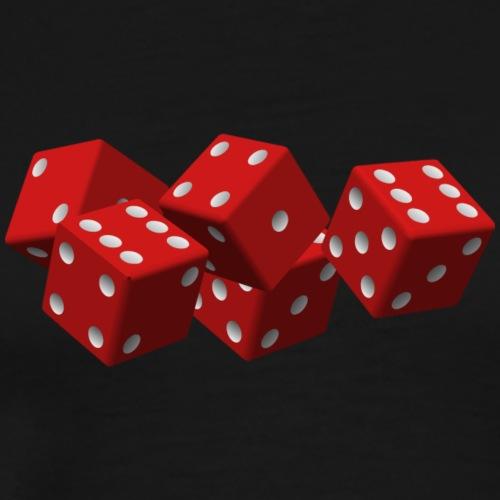 dice-161376_1280 - Premium-T-shirt herr
