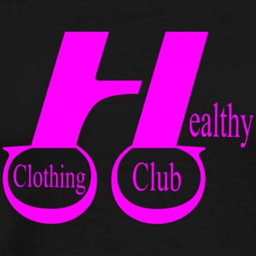 Healthy clothing club pink - Men's Premium T-Shirt